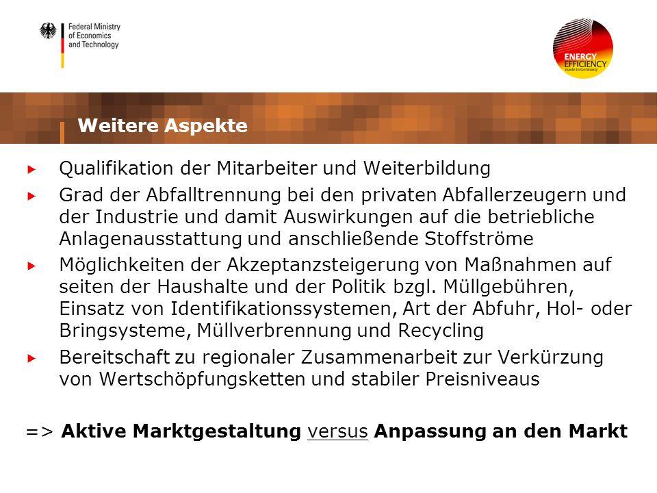 Weitere AspekteQualifikation der Mitarbeiter und Weiterbildung.