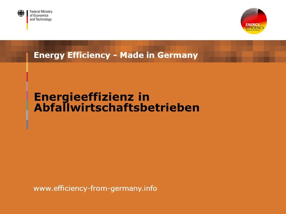Energieeffizienz in Abfallwirtschaftsbetrieben