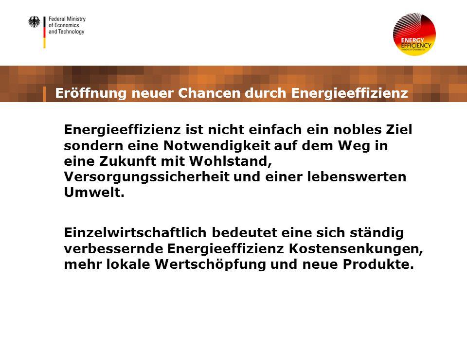 Eröffnung neuer Chancen durch Energieeffizienz