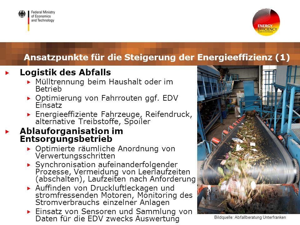 Ansatzpunkte für die Steigerung der Energieeffizienz (1)