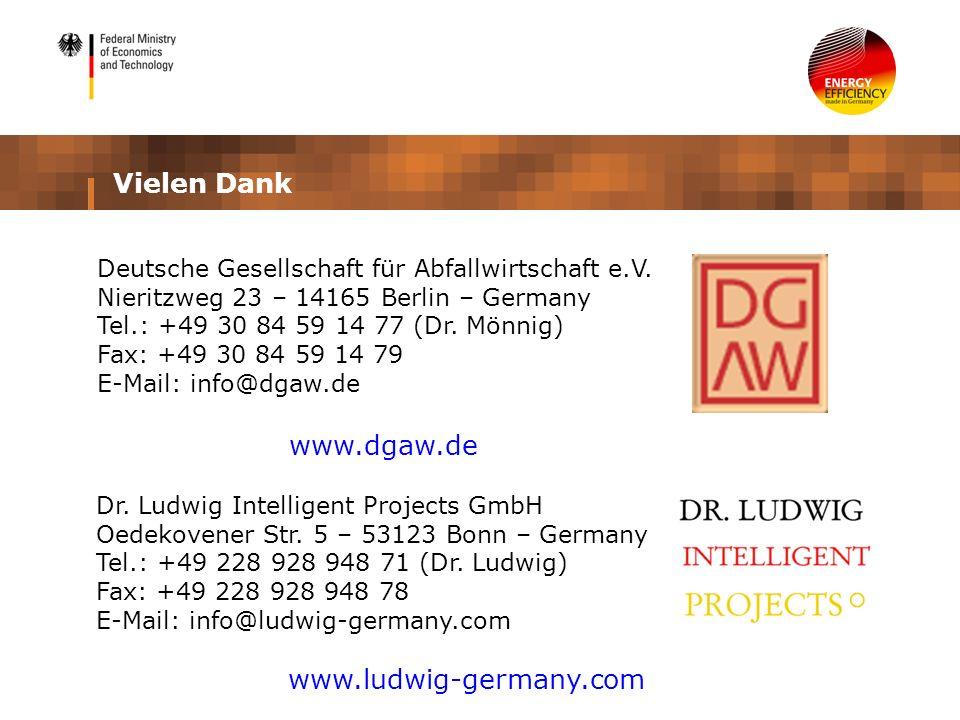 Vielen Dank www.dgaw.de www.ludwig-germany.com