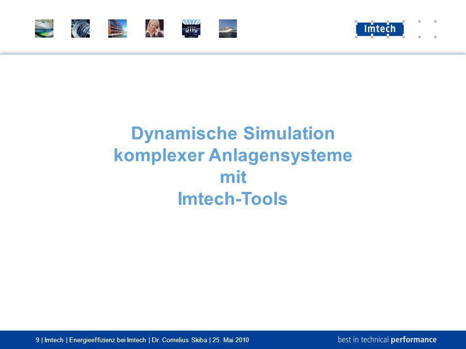 Dynamische Simulation komplexer Anlagensysteme mit Imtech-Tools
