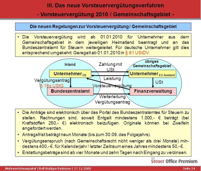III. Das neue Vorsteuervergütungsverfahren