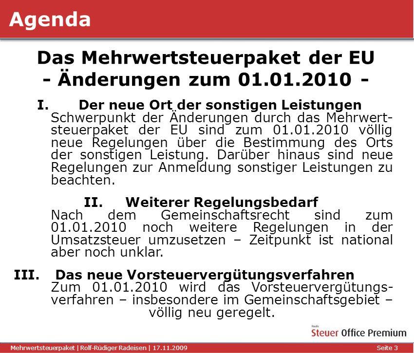 Das Mehrwertsteuerpaket der EU