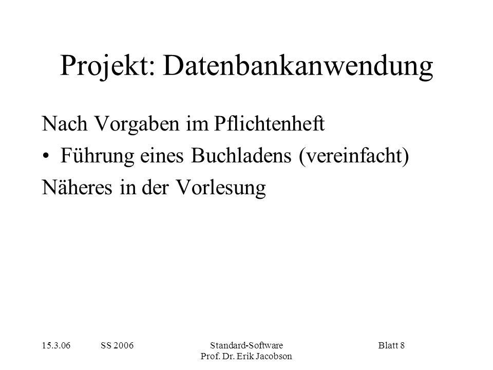 Projekt: Datenbankanwendung