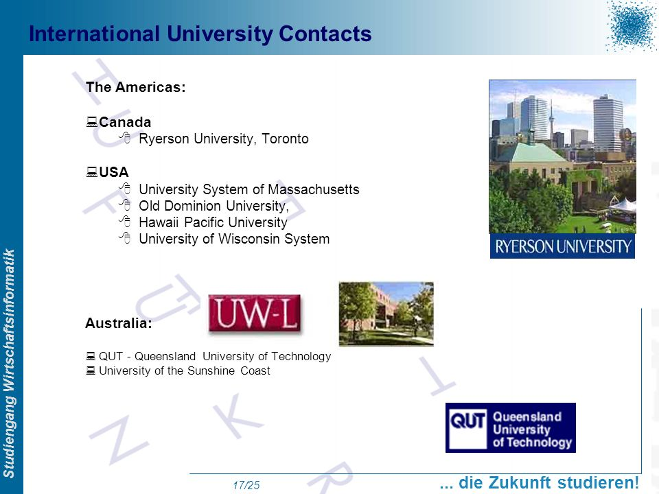 International University Contacts
