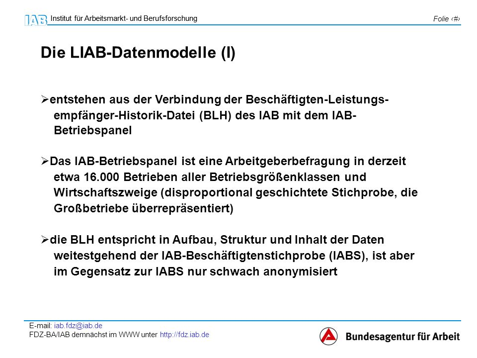 Die LIAB-Datenmodelle (I)