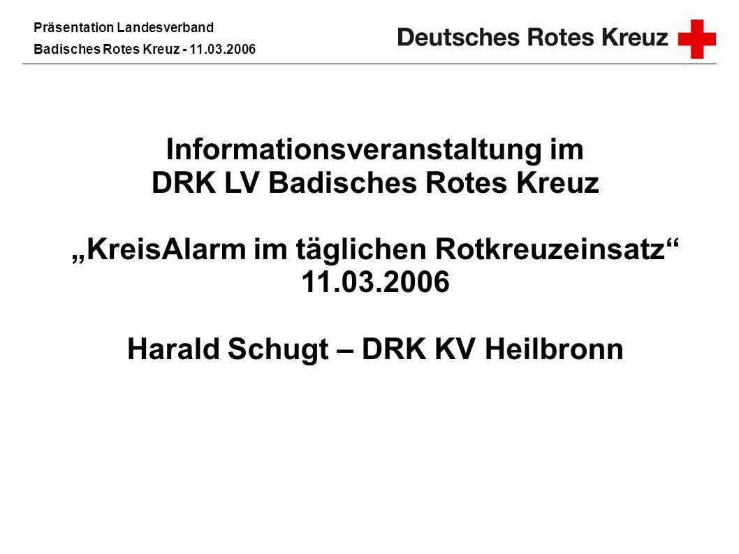 Informationsveranstaltung im DRK LV Badisches Rotes Kreuz