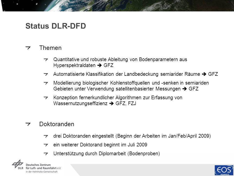 Status DLR-DFD Themen Doktoranden