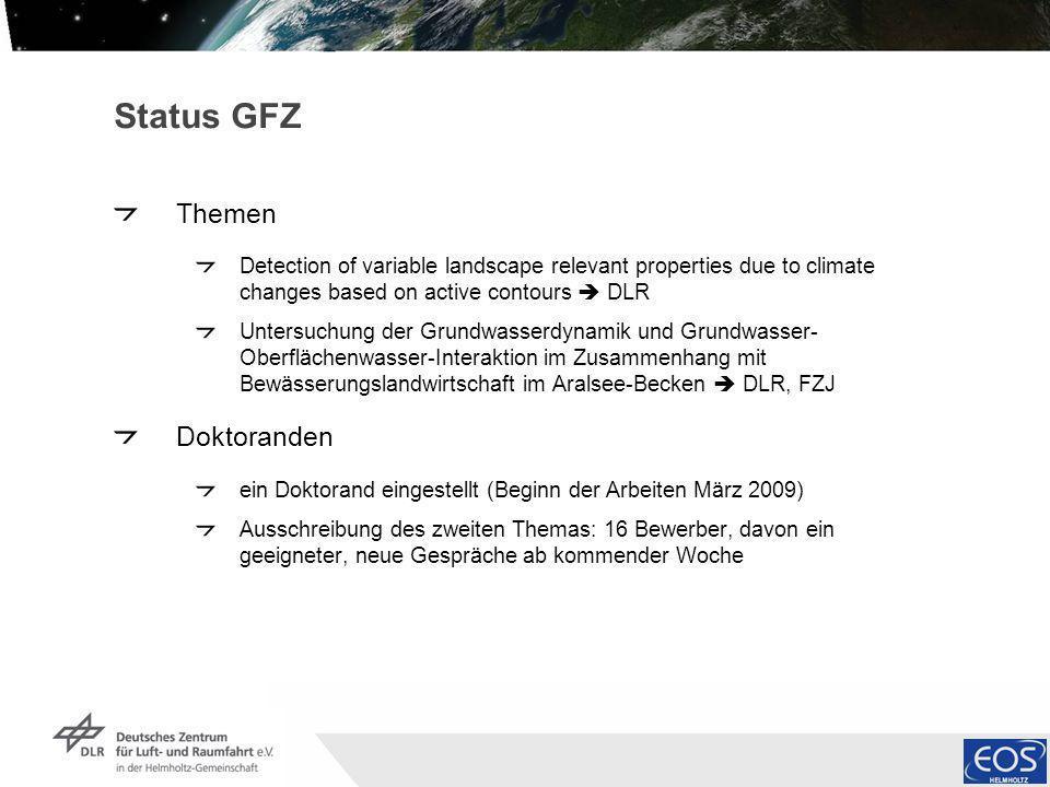 Status GFZ Themen Doktoranden