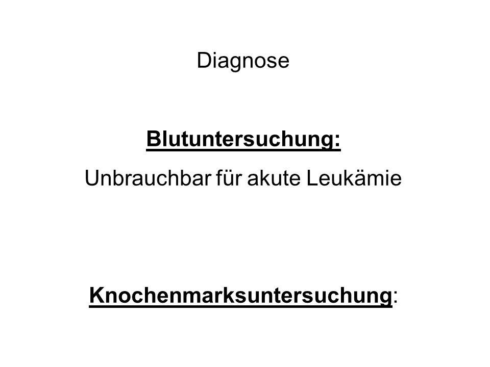 Unbrauchbar für akute Leukämie