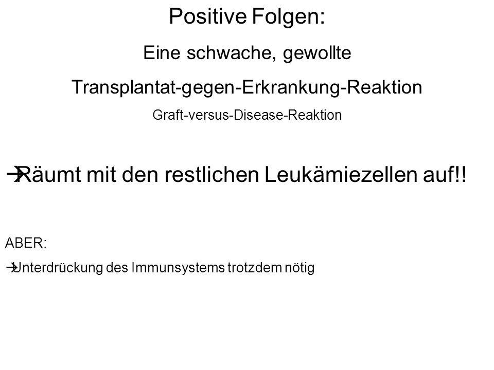 Räumt mit den restlichen Leukämiezellen auf!!