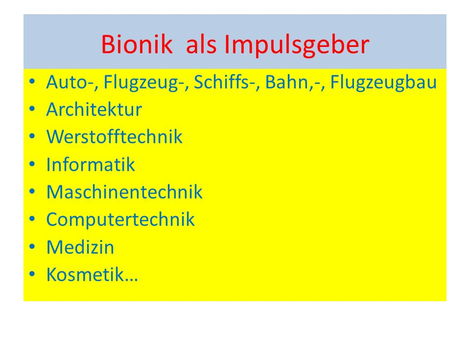 Bionik als Impulsgeber