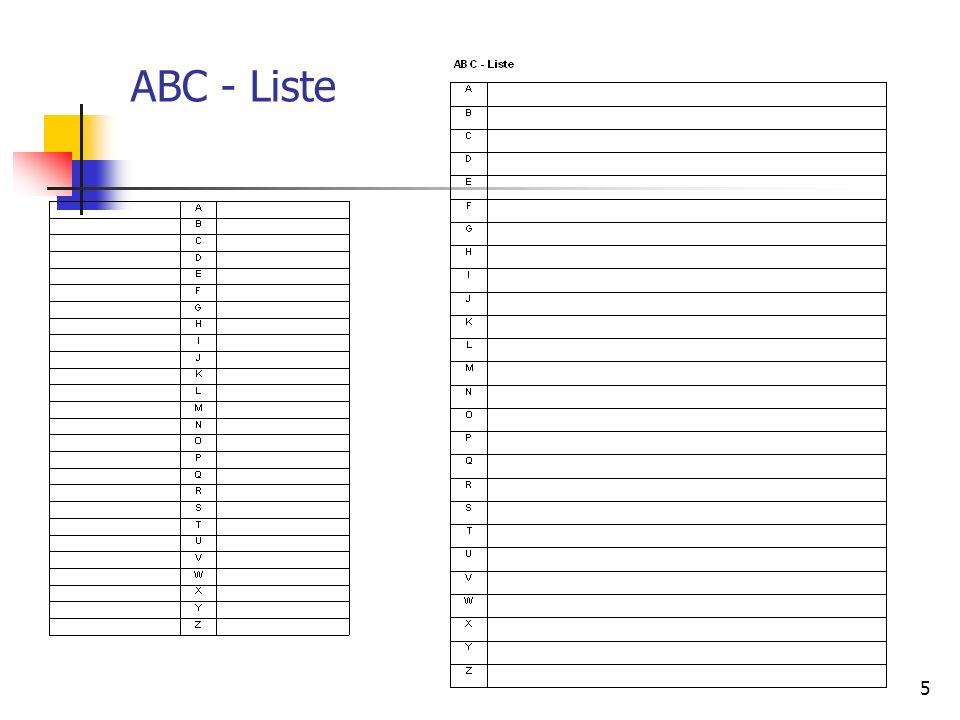 ABC - Liste