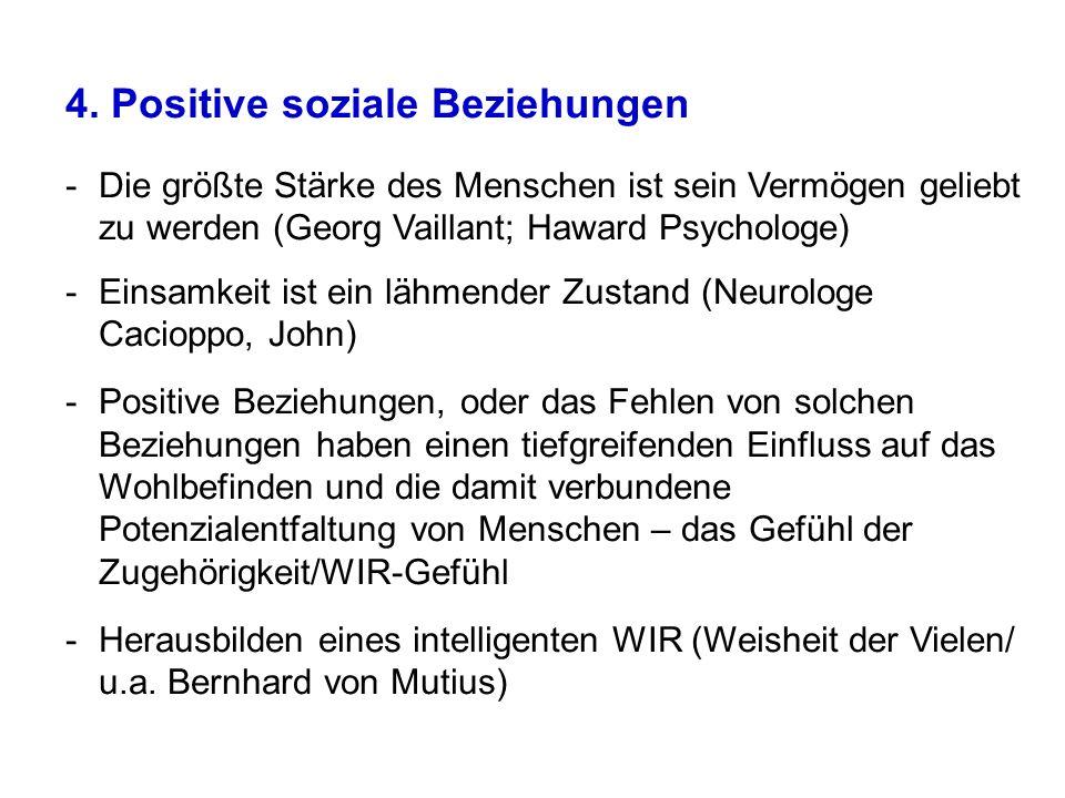 4. Positive soziale Beziehungen