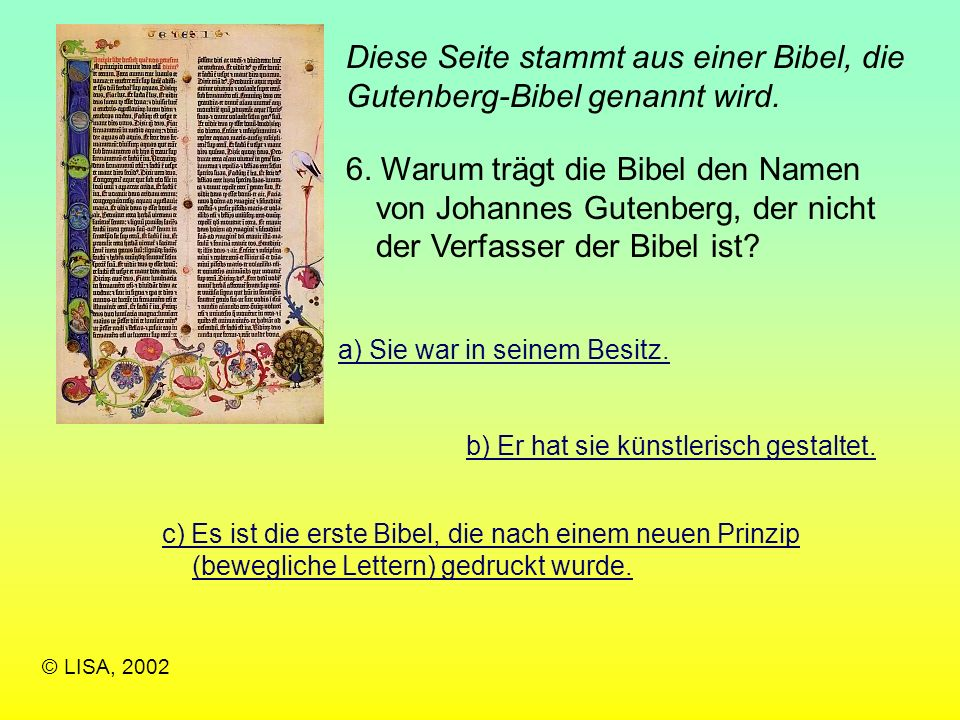Diese Seite stammt aus einer Bibel, die Gutenberg-Bibel genannt wird.