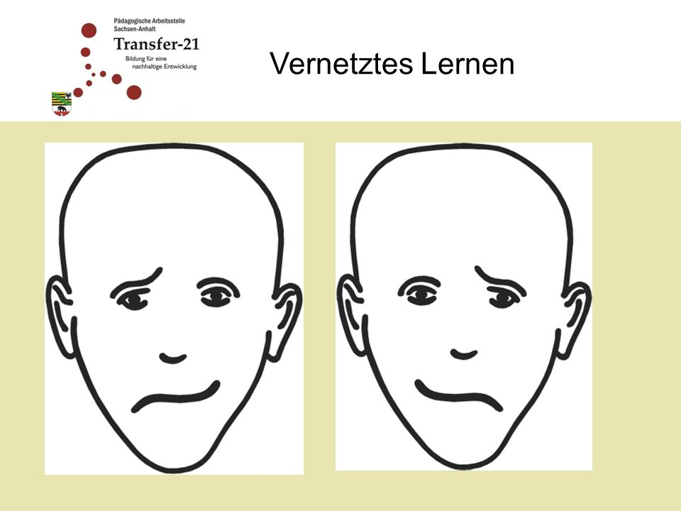 Vernetztes Lernen Welches Gesicht sieht freundlicher aus