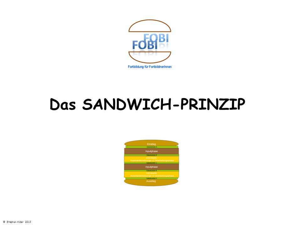 Das SANDWICH-PRINZIP © Stephan Alder 2013