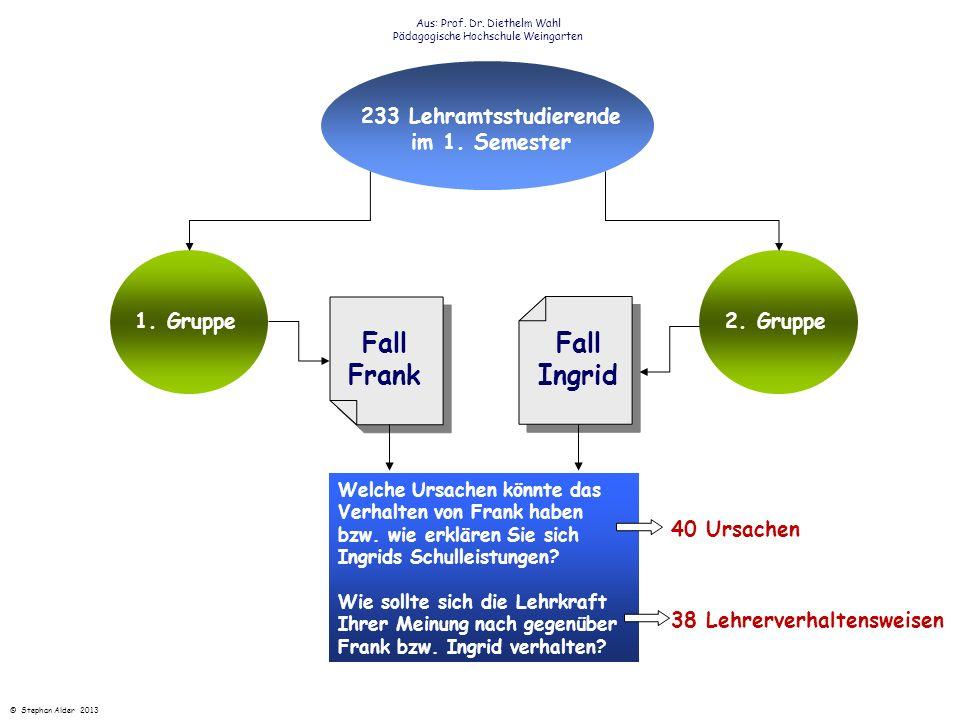 233 Lehramtsstudierende im 1. Semester