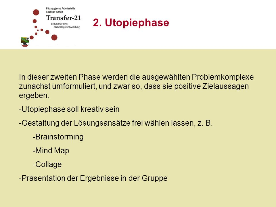2. Utopiephase