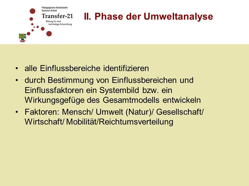 II. Phase der Umweltanalyse