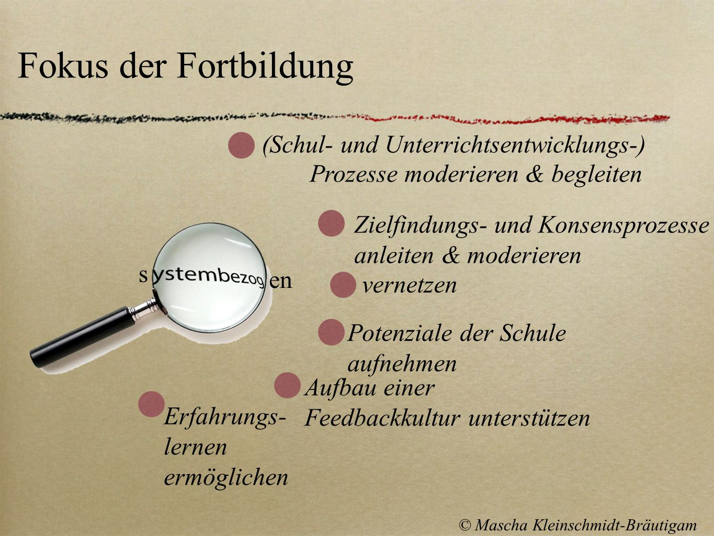 Fokus der Fortbildung (Schul- und Unterrichtsentwicklungs-)