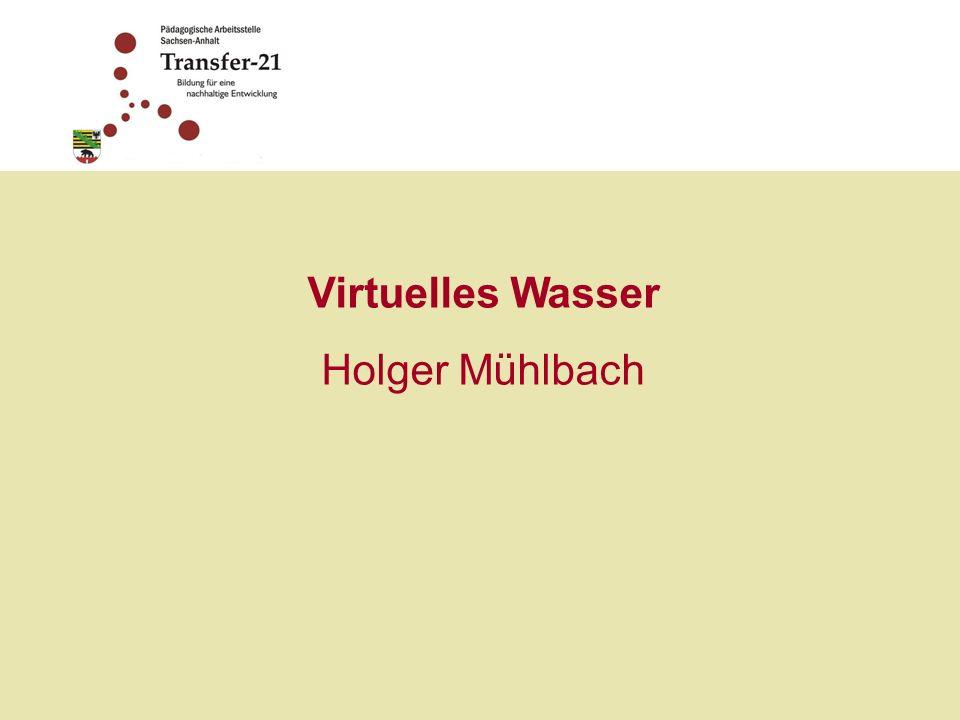 Virtuelles Wasser Holger Mühlbach