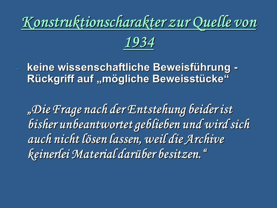 Konstruktionscharakter zur Quelle von 1934