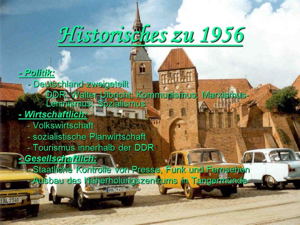 Historisches zu 1956 - Deutschland zweigeteilt