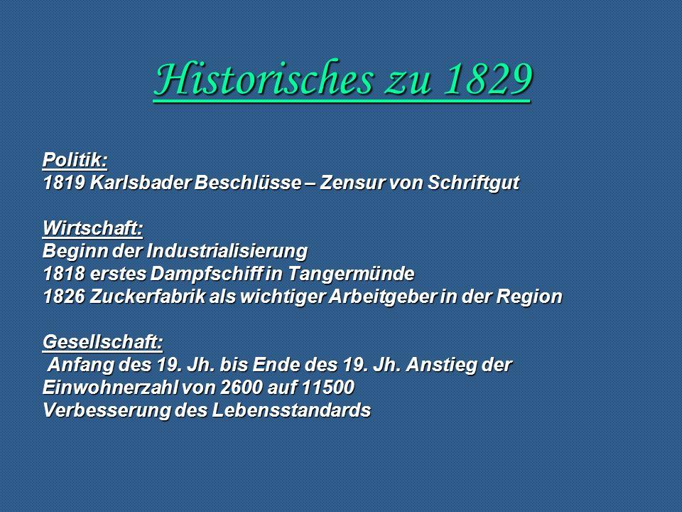 Historisches zu 1829 Politik: