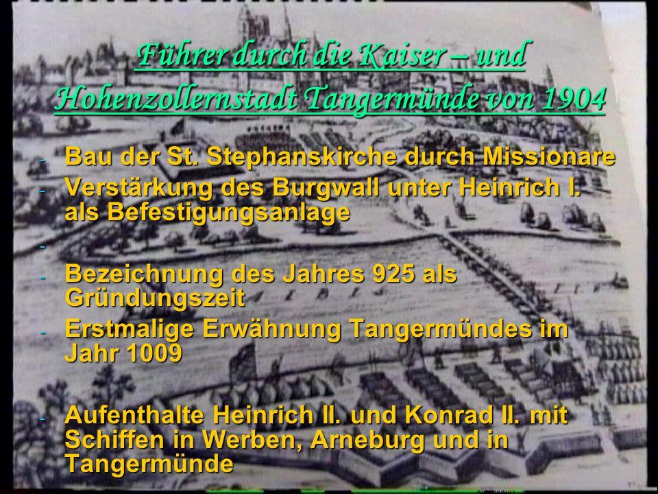 Führer durch die Kaiser – und Hohenzollernstadt Tangermünde von 1904