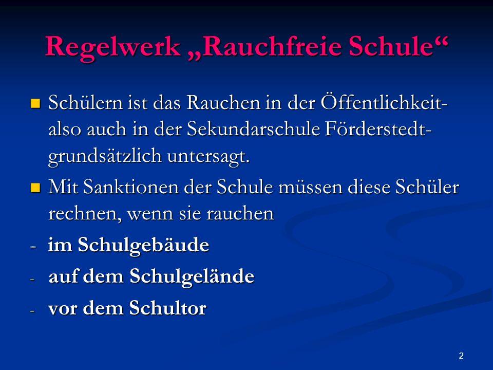 """Regelwerk """"Rauchfreie Schule"""