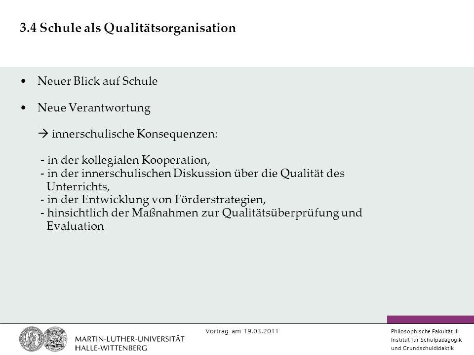 3.4 Schule als Qualitätsorganisation