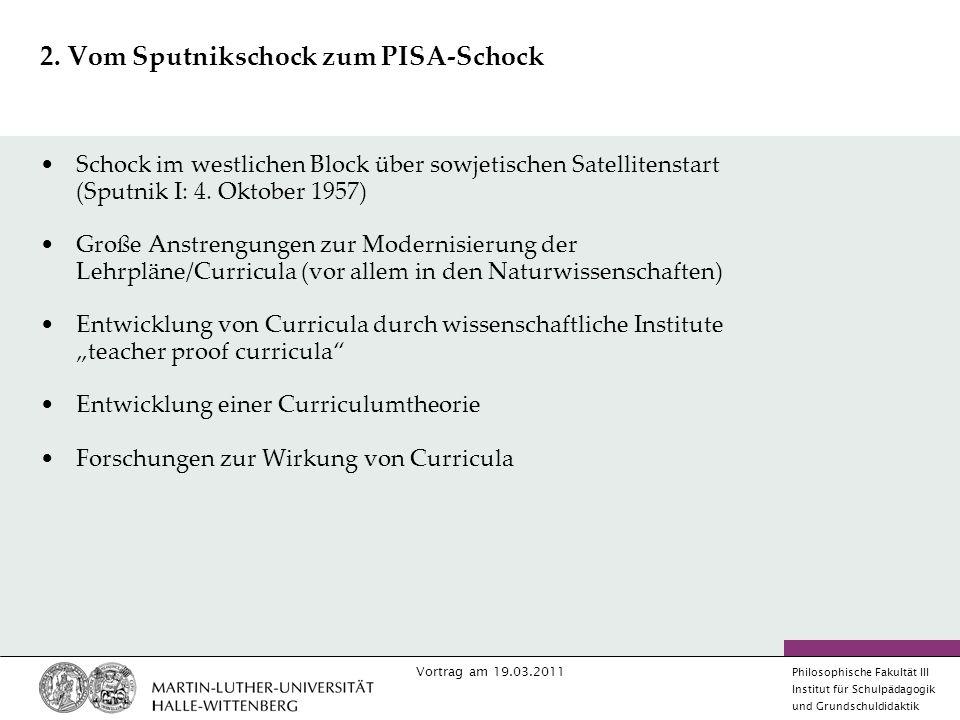 2. Vom Sputnikschock zum PISA-Schock