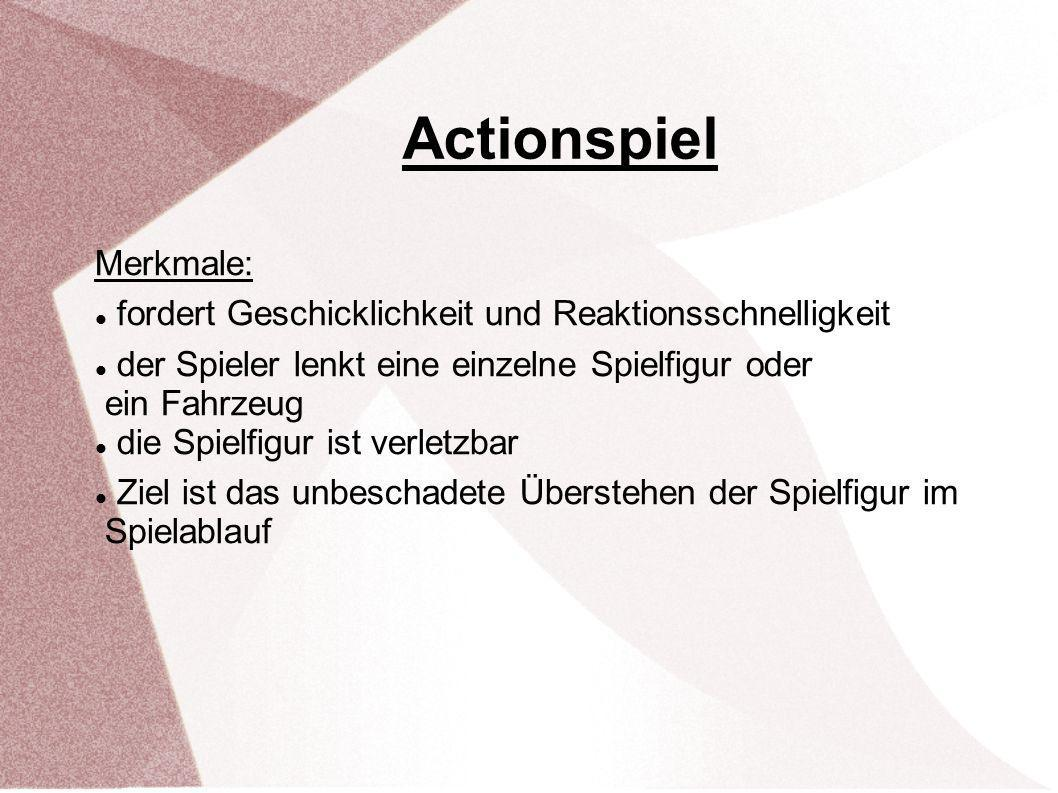 Actionspiel Merkmale: