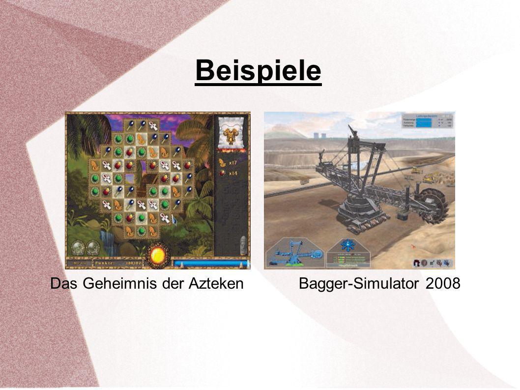 Beispiele Das Geheimnis der Azteken Bagger-Simulator 2008