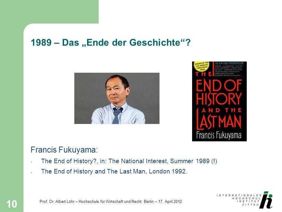 """1989 – Das """"Ende der Geschichte"""