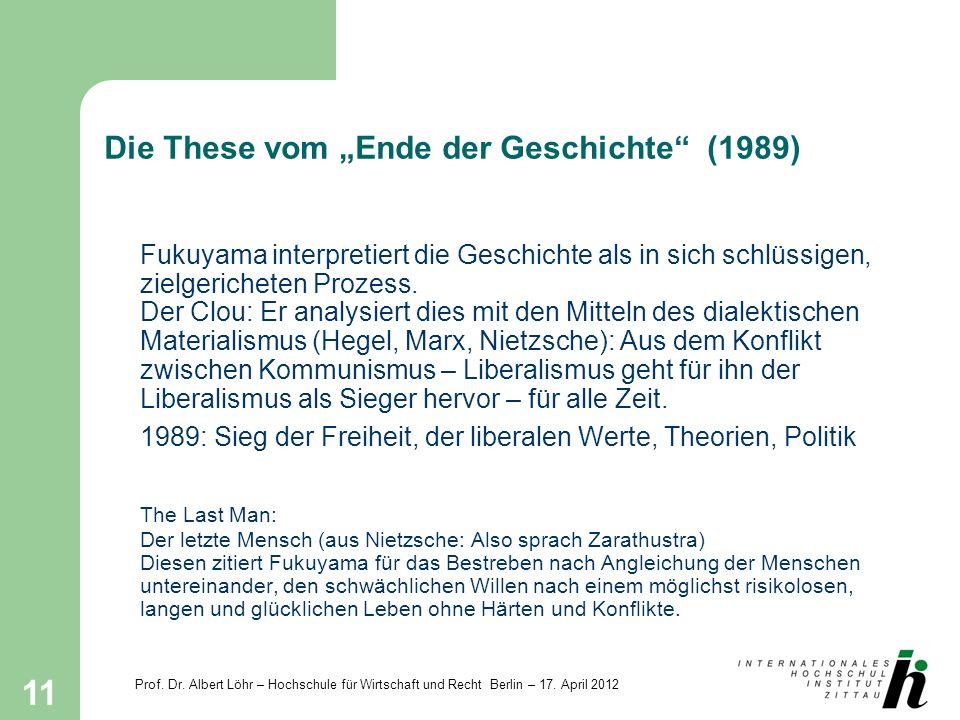 """Die These vom """"Ende der Geschichte (1989)"""