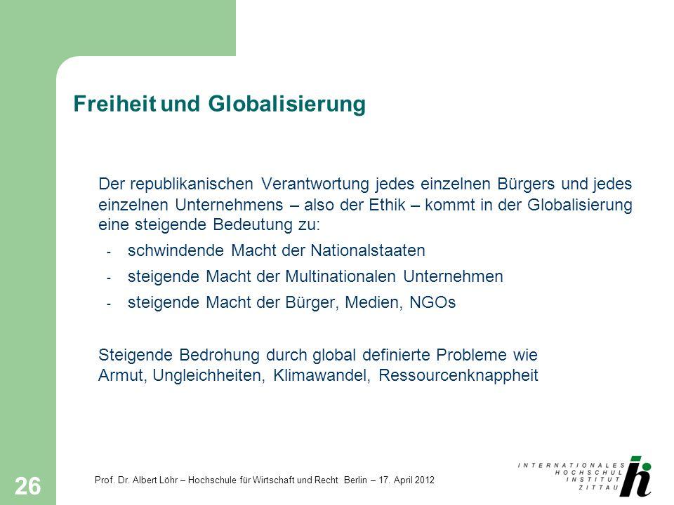 Freiheit und Globalisierung