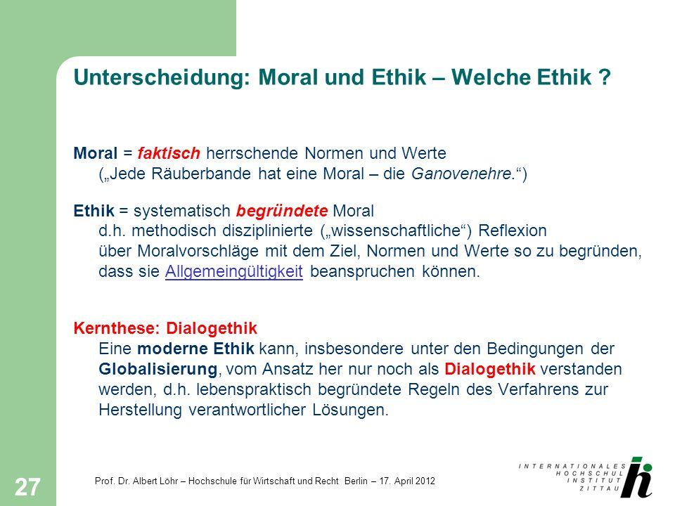 Unterscheidung: Moral und Ethik – Welche Ethik