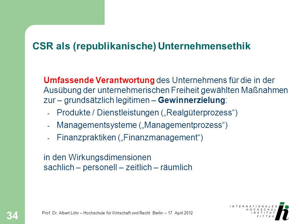 CSR als (republikanische) Unternehmensethik