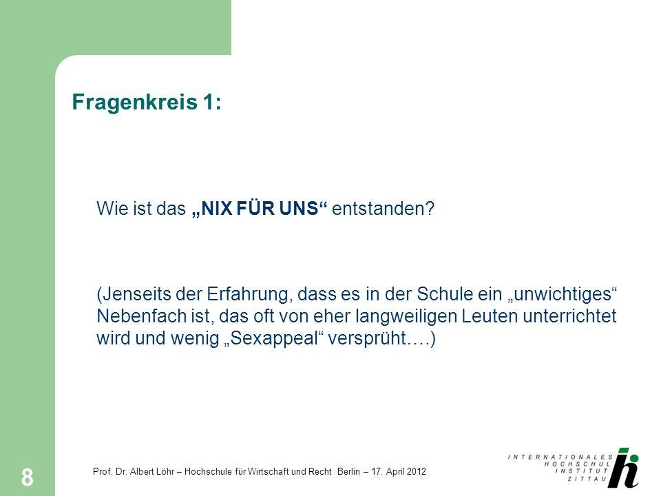 """Fragenkreis 1: Wie ist das """"NIX FÜR UNS entstanden"""