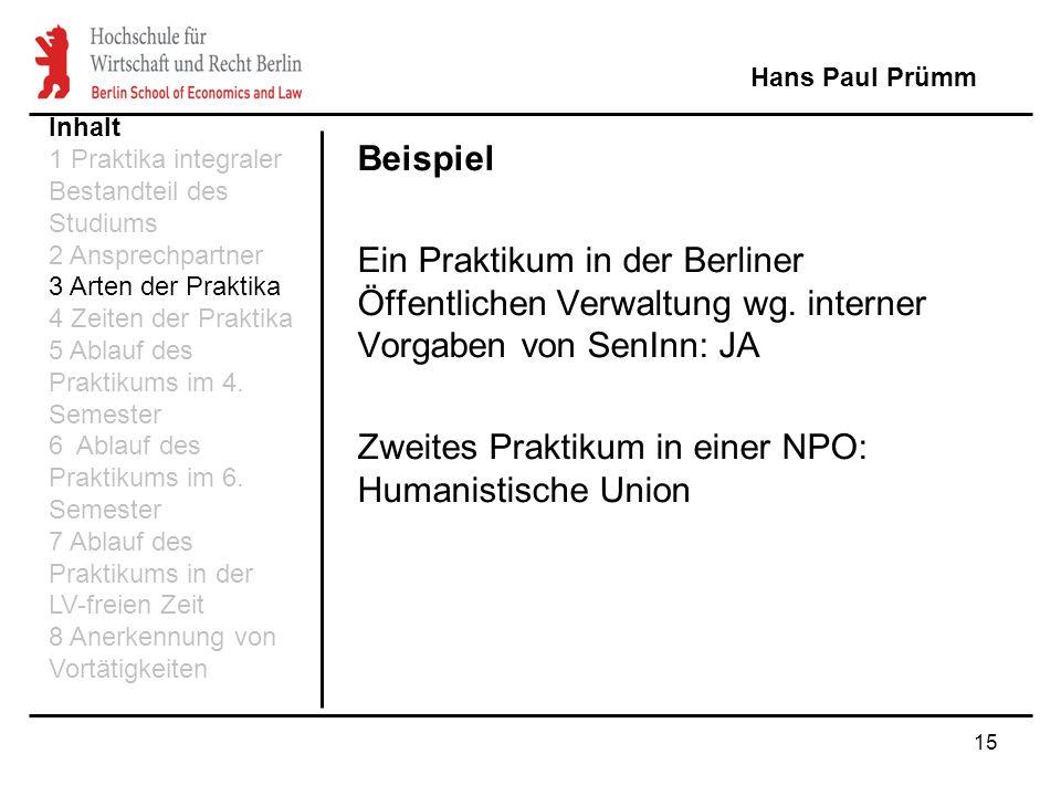 Zweites Praktikum in einer NPO: Humanistische Union