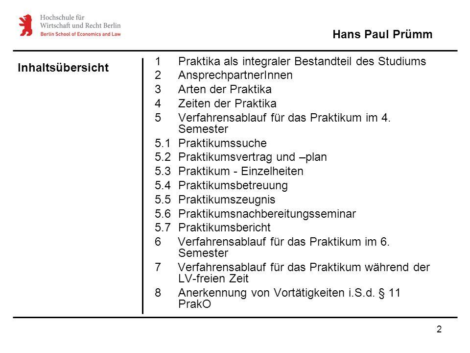 1 Praktika als integraler Bestandteil des Studiums
