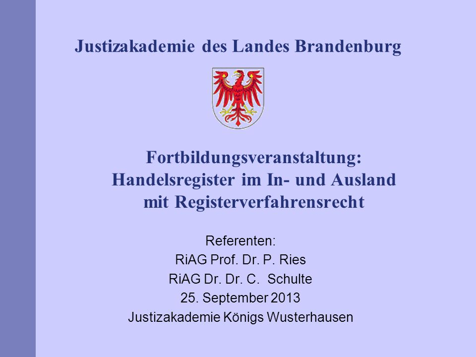Justizakademie Königs Wusterhausen
