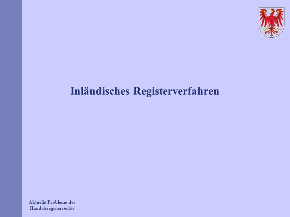 Inländisches Registerverfahren