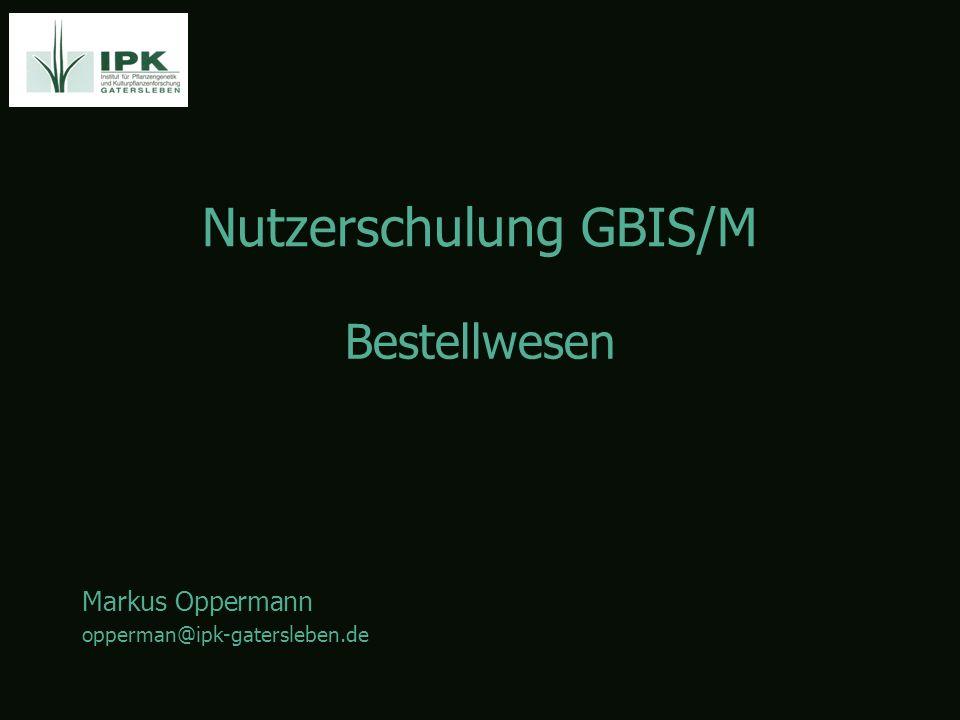 Nutzerschulung GBIS/M