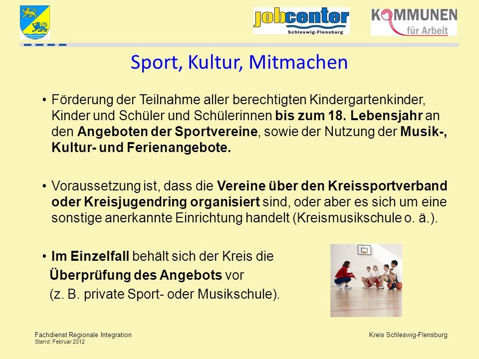 Sport, Kultur, Mitmachen