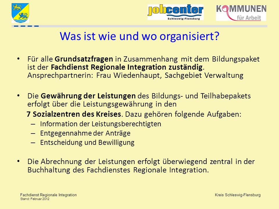 Was ist wie und wo organisiert