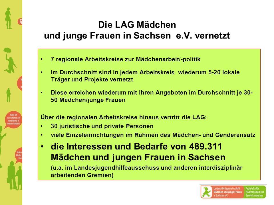 Die LAG Mädchen und junge Frauen in Sachsen e.V. vernetzt